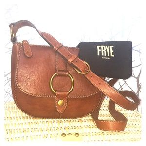 Frye brown crossbody bag w/ ring